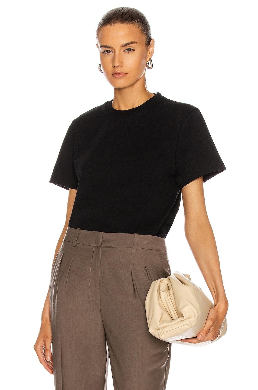 Image 1 of Bottega Veneta Crew Neck T Shirt in Black