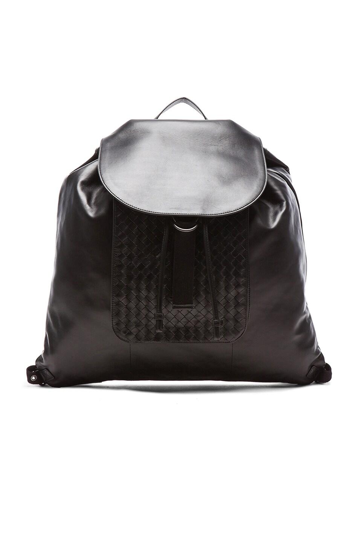Image 1 of Bottega Veneta Woven Backpack in Black