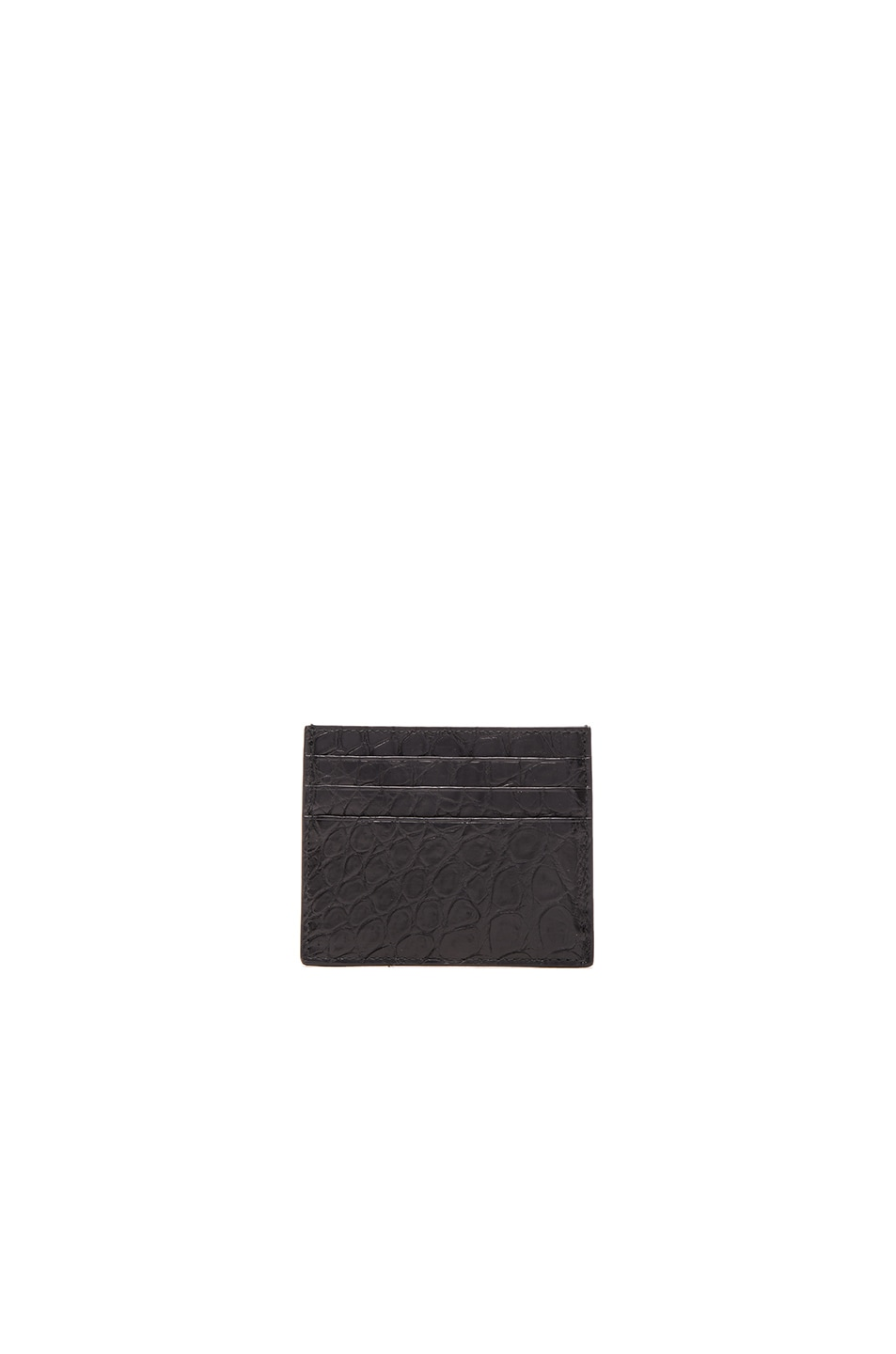 Image 1 of Bottega Veneta Soft Crocodile Cardholder in Black