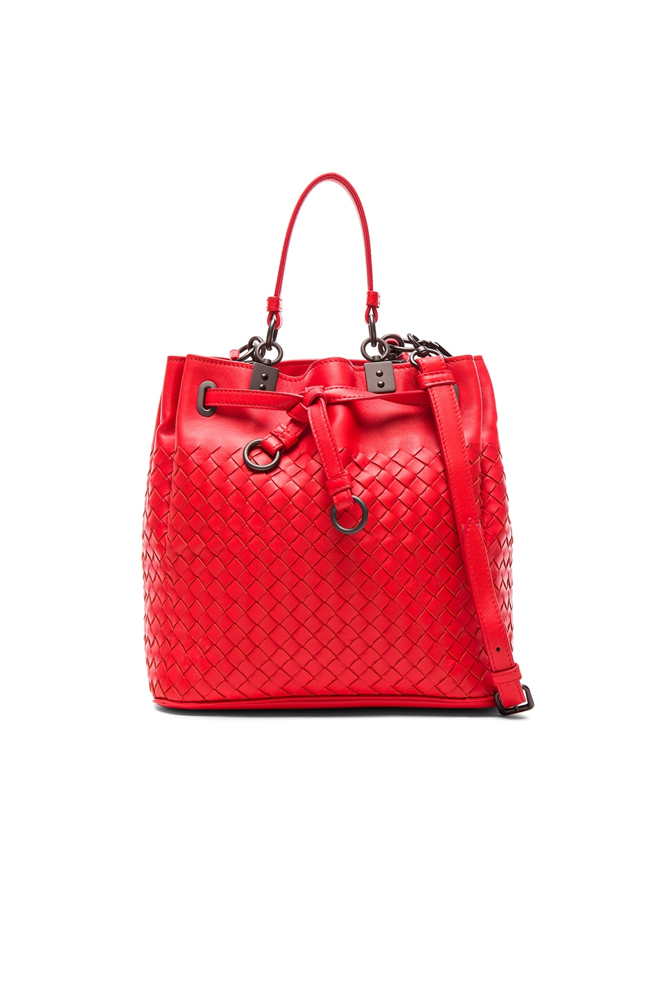 Image 1 of Bottega Veneta Woven Bucket Bag in Vesuvio