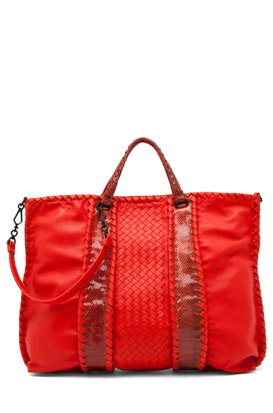 Image 1 of Bottega Veneta Nappa Ayers Shoulder Bag in Fire