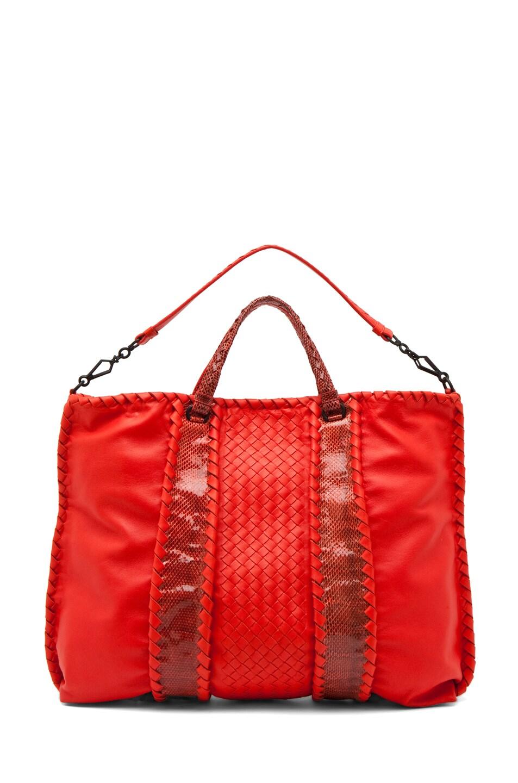 Image 5 of Bottega Veneta Nappa Ayers Shoulder Bag in Fire