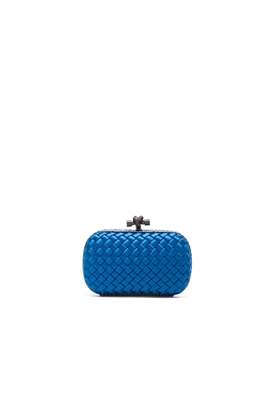 Image 1 of Bottega Veneta Knot Clutch in Peacock