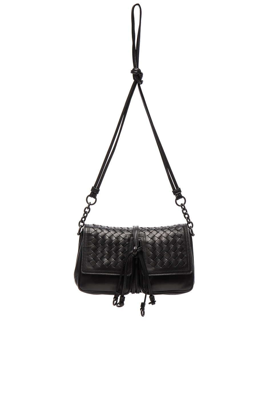 Image 1 of Bottega Veneta Nappa Charcoal Shoulder Bag in Nero