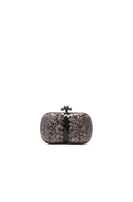 Image 1 of Bottega Veneta Tobu Club Ayers Knot Clutch in New Light Grey f796ecda23b1f