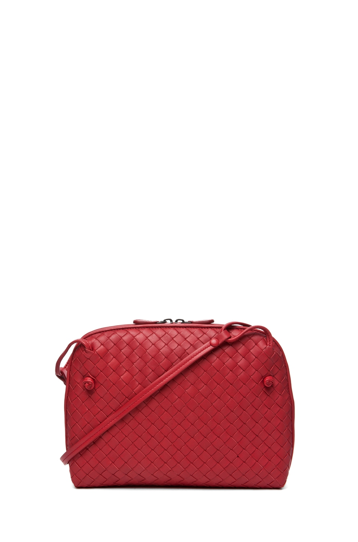 Image 1 of Bottega Veneta Small Messenger Bag in Blood