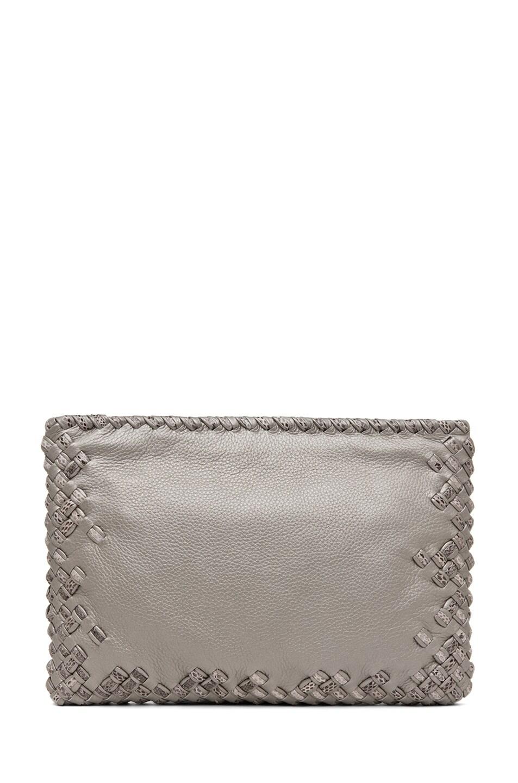 Image 1 of Bottega Veneta Ayers Livrea Spring Frame Clutch in Silver