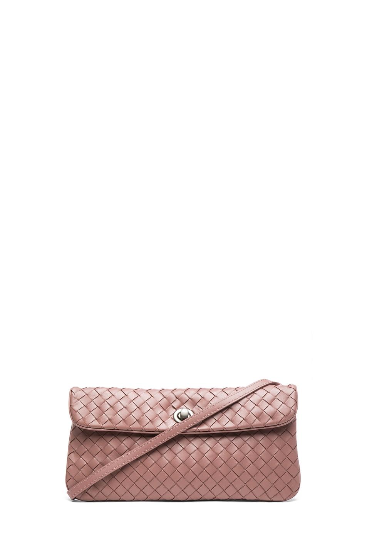 Image 1 of Bottega Veneta Mini Messenger Bag in Mauve