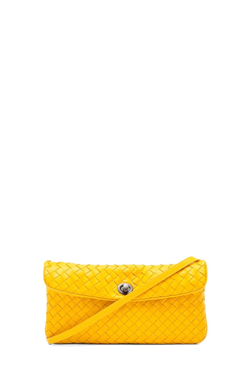 Image 1 of Bottega Veneta Napa Crossbody Bag in Sunset