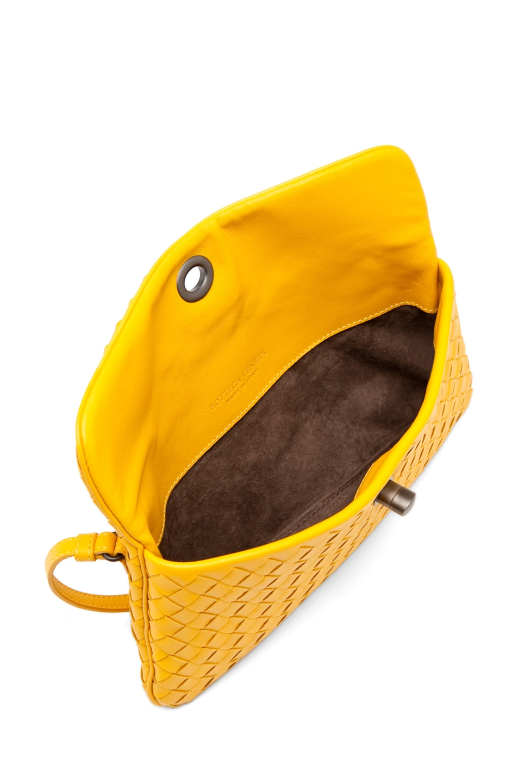 Image 4 of Bottega Veneta Napa Crossbody Bag in Sunset
