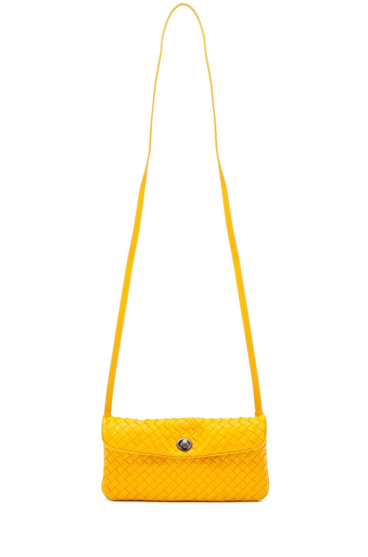 Image 5 of Bottega Veneta Napa Crossbody Bag in Sunset