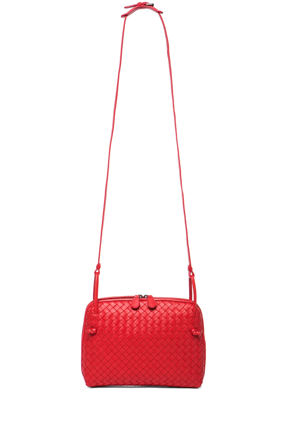 d28876216600 Image 5 of Bottega Veneta Intrecciato Nappa Cross Body Bag in New Red