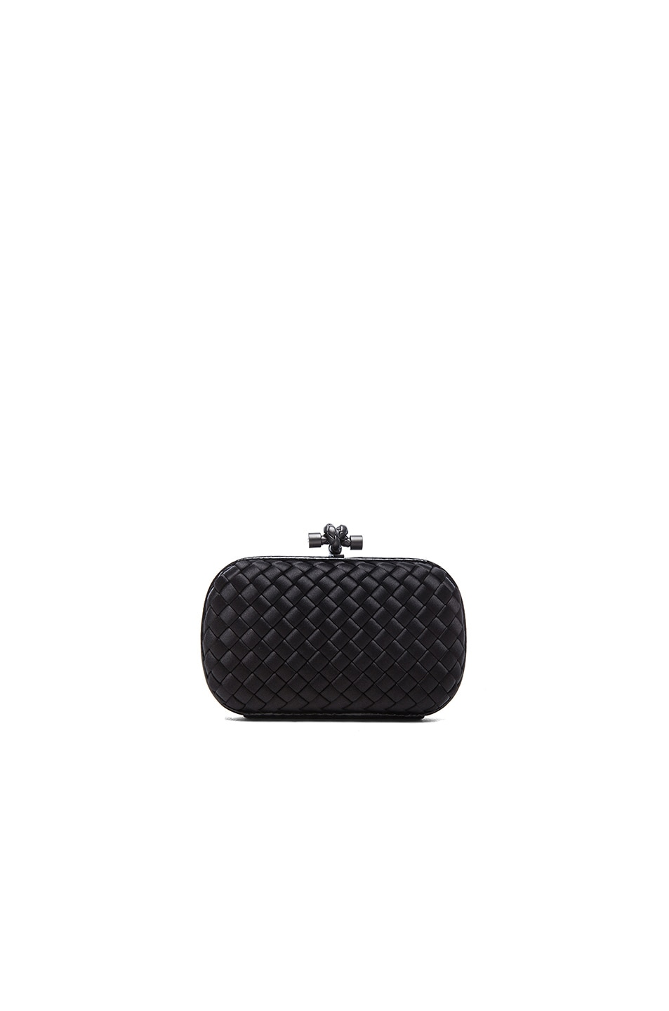 Image 1 of Bottega Veneta Ayers Livrea Knot Clutch in Nero