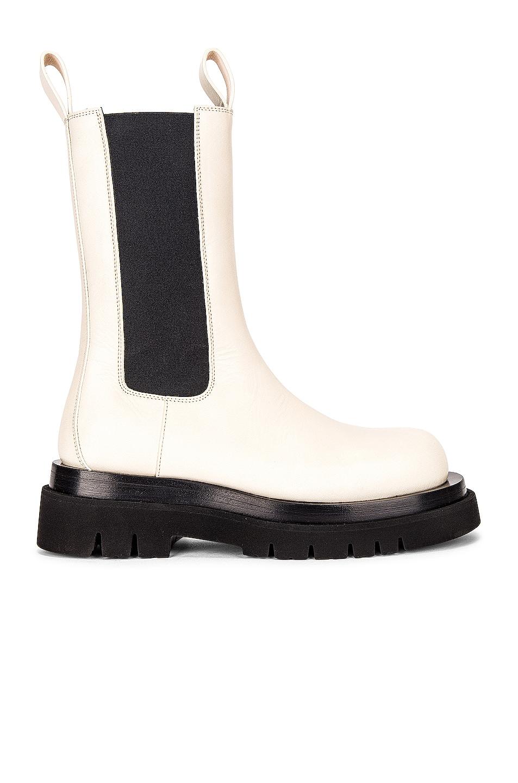 Image 1 of Bottega Veneta BV Lug Boots in Sea Salt
