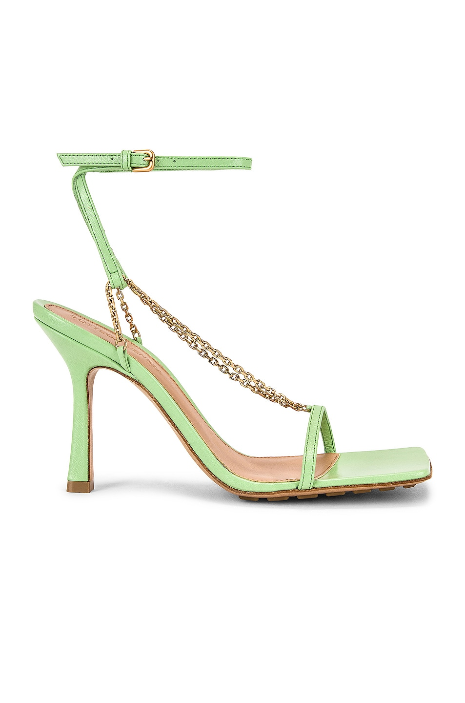 Image 1 of Bottega Veneta Stretch Chain Sandals in Pistachio