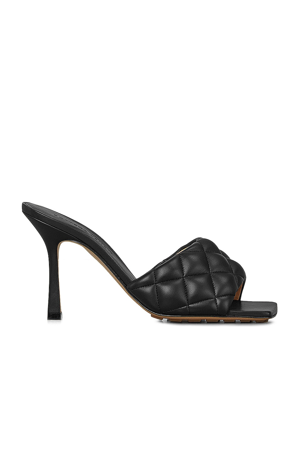 Image 1 of Bottega Veneta Leather Quilted Mules in Black