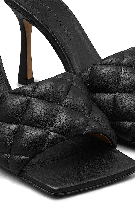 Image 5 of Bottega Veneta Leather Quilted Mules in Black