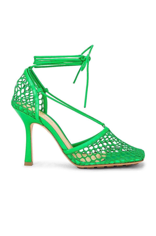 Image 1 of Bottega Veneta Stretch Heels in Grass