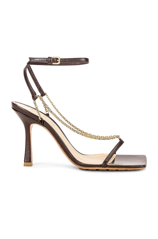 Image 1 of Bottega Veneta Stretch Chain Sandals in Ebony