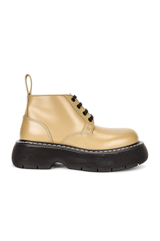 Image 1 of Bottega Veneta The Bounce Ankle Boots in All Spice & Black