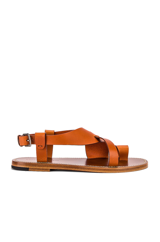 Image 1 of Bottega Veneta Cross Strap Sandals in Cotto