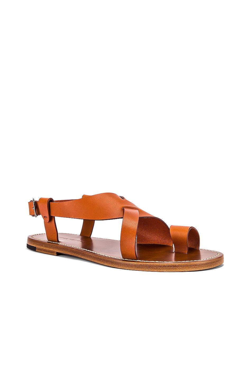 Image 2 of Bottega Veneta Cross Strap Sandals in Cotto