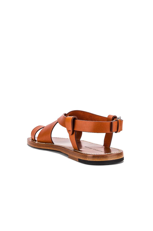 Image 3 of Bottega Veneta Cross Strap Sandals in Cotto