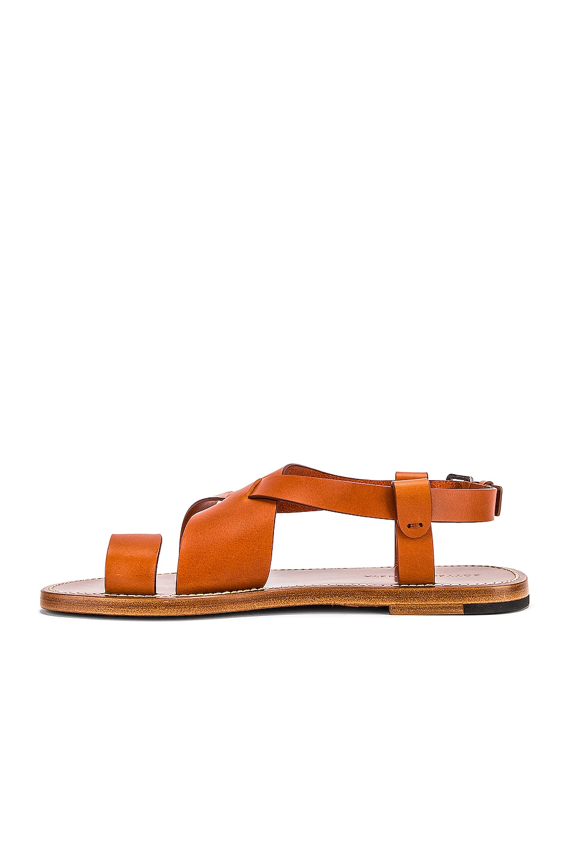 Image 5 of Bottega Veneta Cross Strap Sandals in Cotto