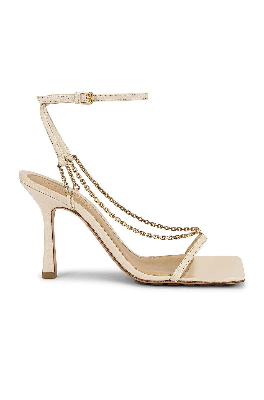 Image 1 of Bottega Veneta Stretch Chain Sandals in Sea Salt