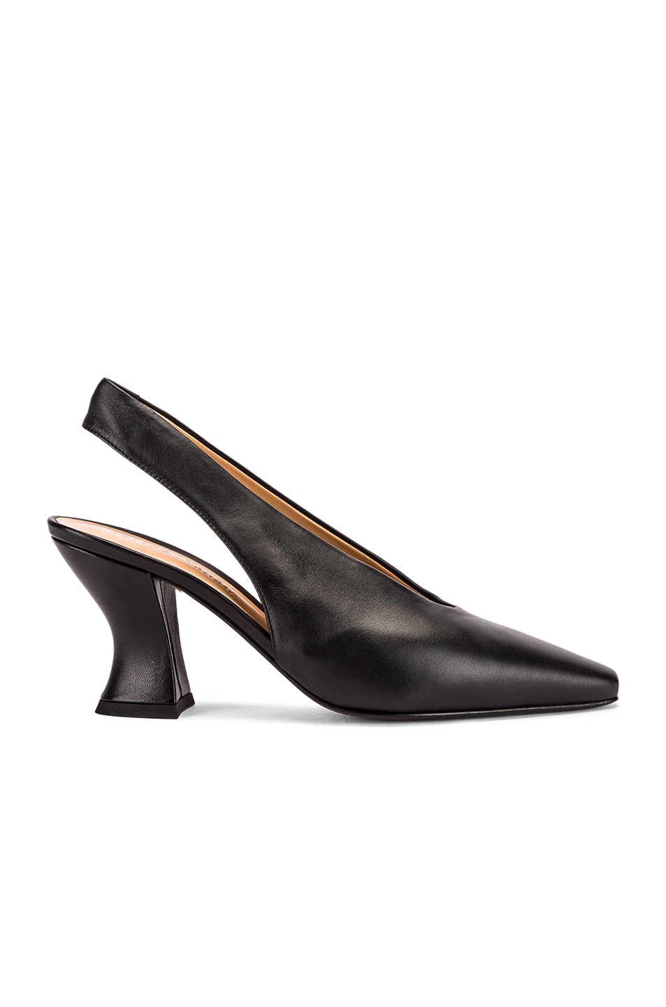 Image 1 of Bottega Veneta Almond Slingback Kitten Heels in Black