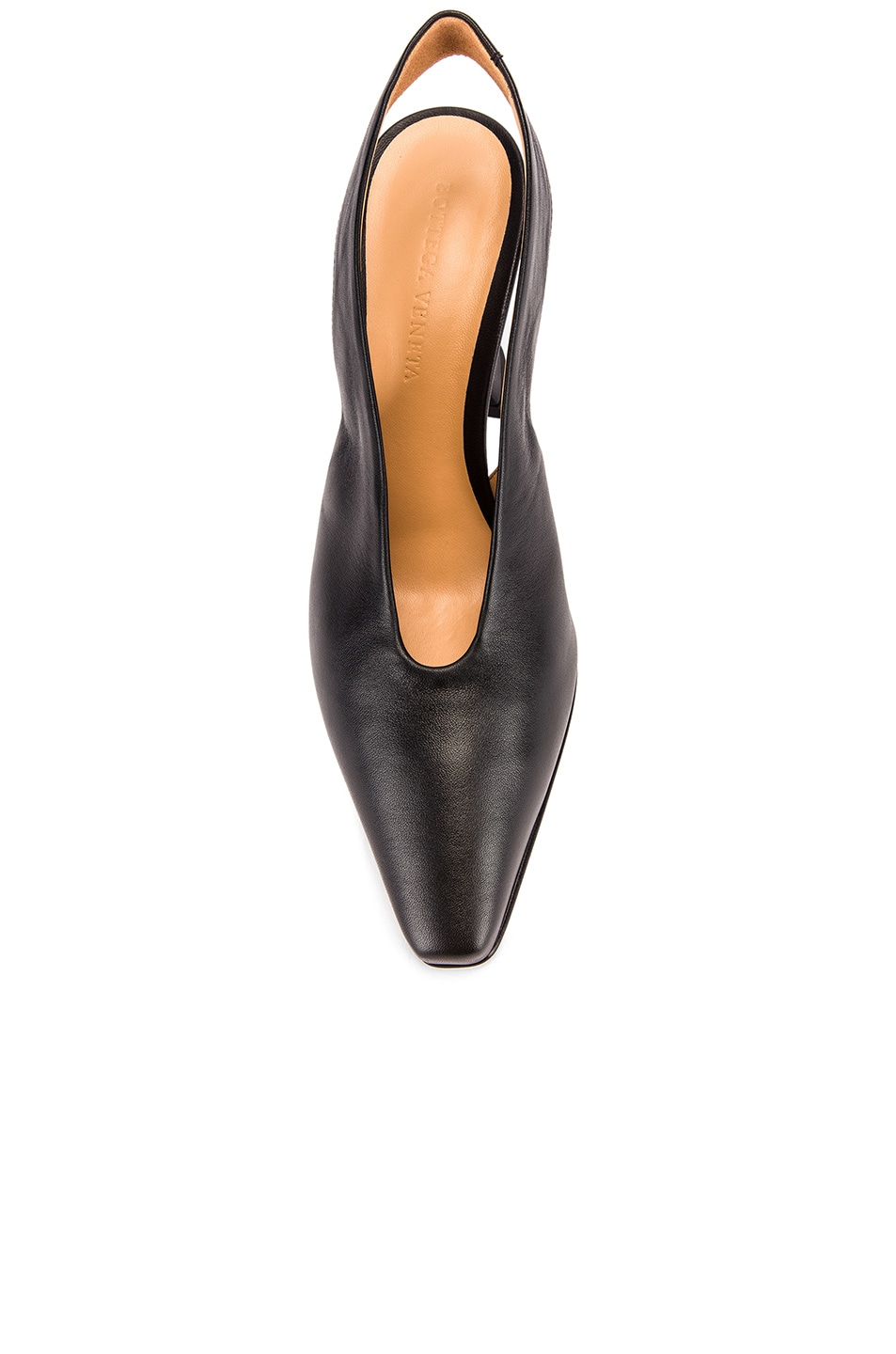 Image 4 of Bottega Veneta Almond Slingback Kitten Heels in Black