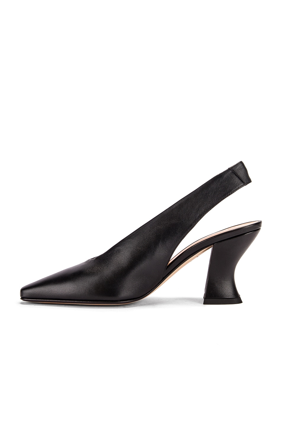 Image 5 of Bottega Veneta Almond Slingback Kitten Heels in Black