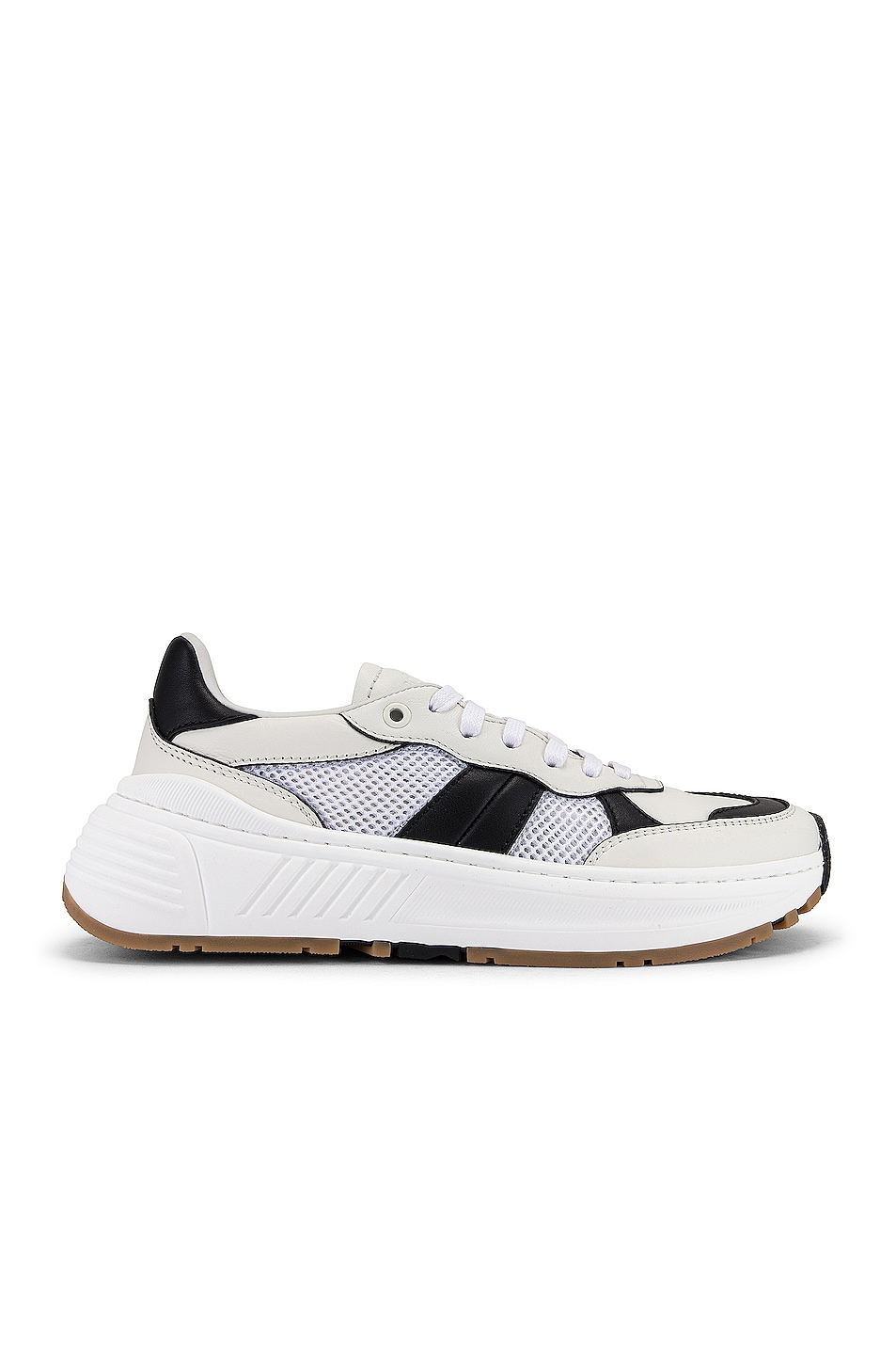 Image 1 of Bottega Veneta Speedster Sneakers in White & Black