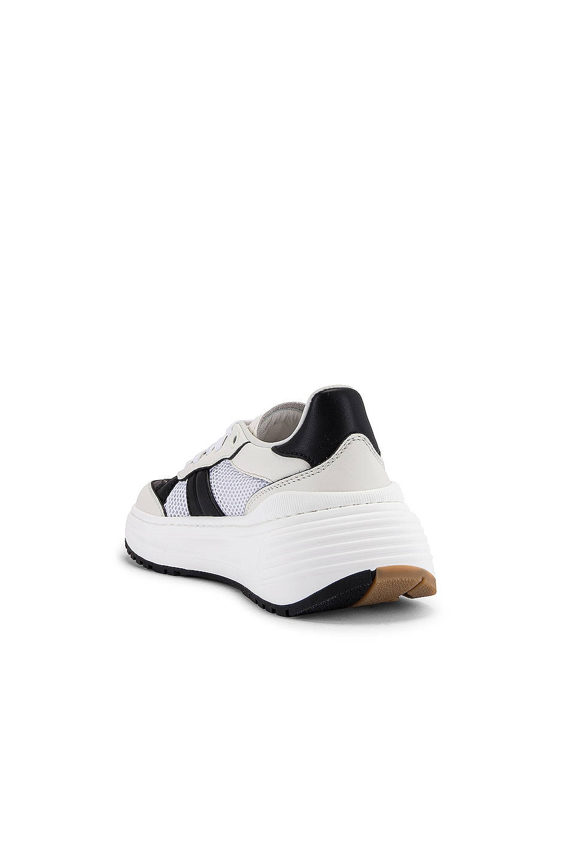 Image 3 of Bottega Veneta Speedster Sneakers in White & Black