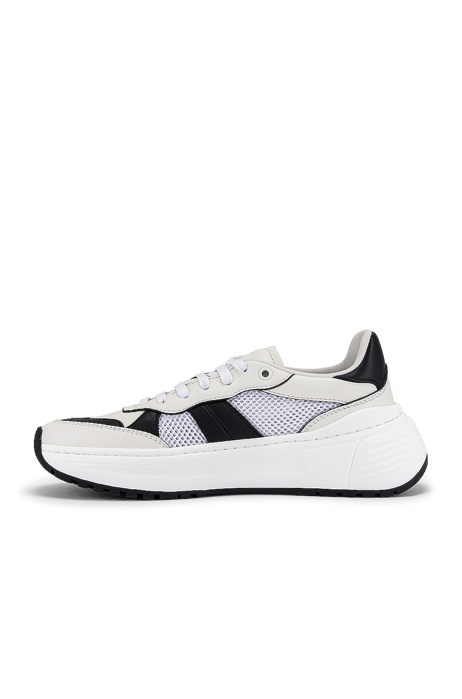 Image 5 of Bottega Veneta Speedster Sneakers in White & Black