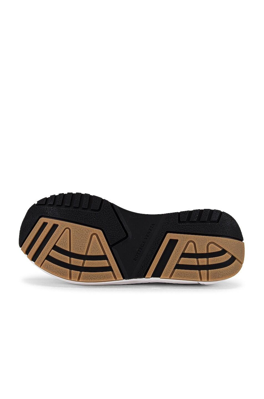 Image 6 of Bottega Veneta Speedster Sneakers in White & Black