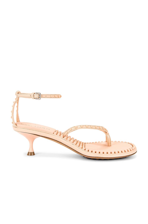 Image 1 of Bottega Veneta Dot Ankle Strap Sandals in Macaroon
