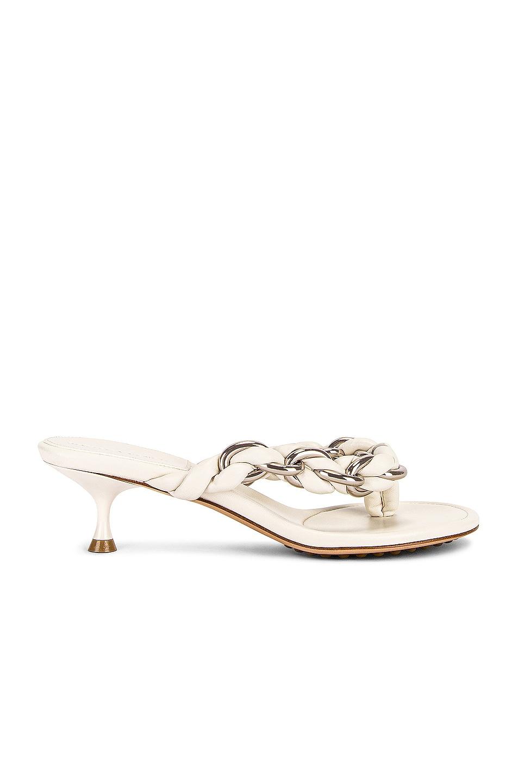Image 1 of Bottega Veneta Dot Sandals in String