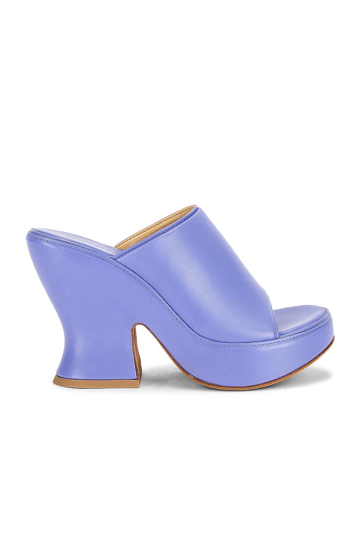 Image 1 of Bottega Veneta Wedge Sandals in Perwinkle
