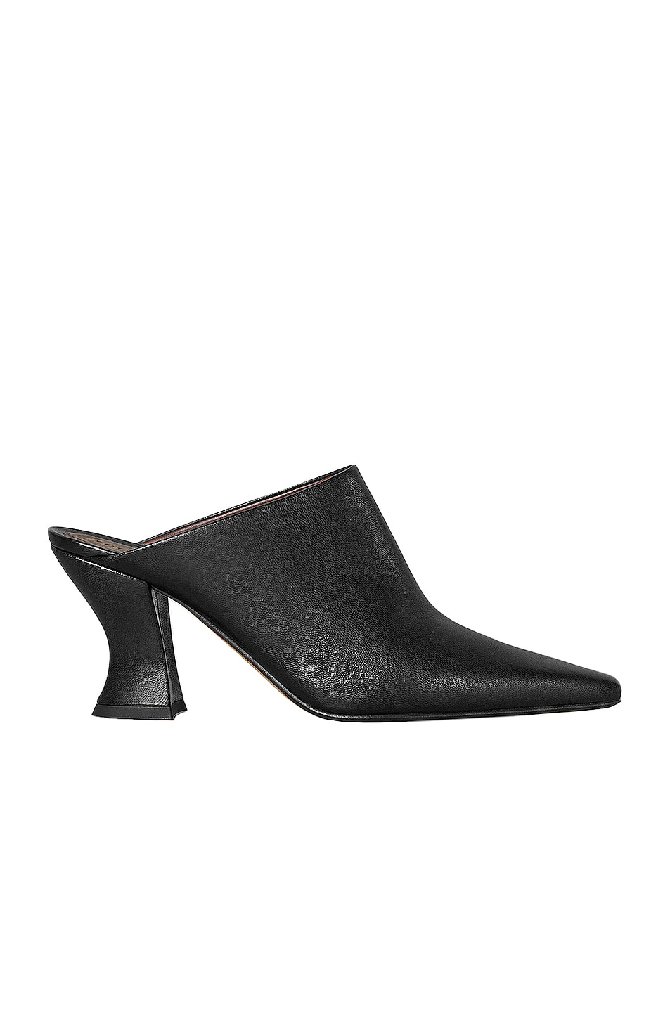 Image 1 of Bottega Veneta Leather Pointed Toe Mules in Black