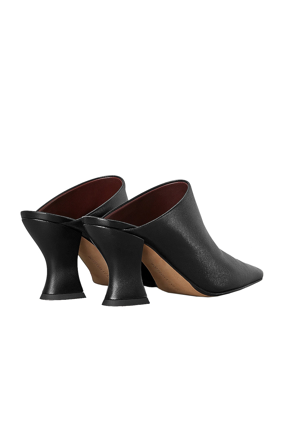 Image 3 of Bottega Veneta Leather Pointed Toe Mules in Black