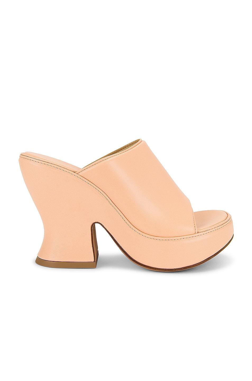 Image 1 of Bottega Veneta Wedge Sandals in Macaroon