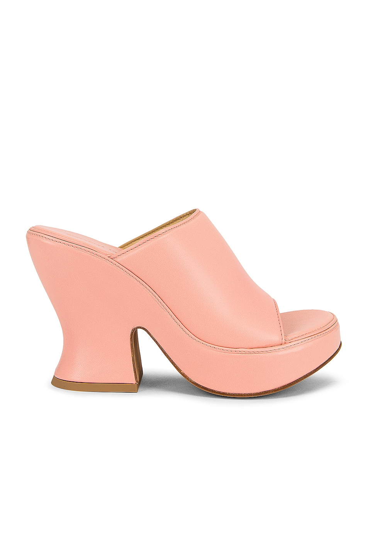 Image 1 of Bottega Veneta Wedge Sandals in Peachy