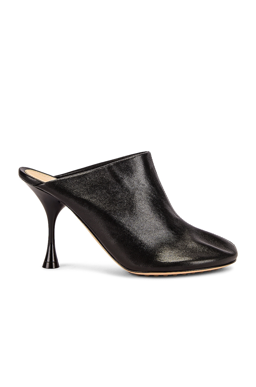 Image 1 of Bottega Veneta Dot Sock Mules in Black