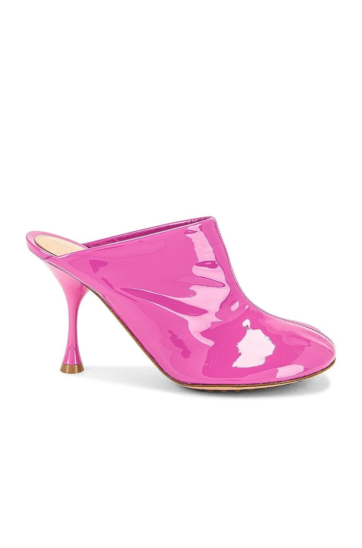 Image 1 of Bottega Veneta Dot Sock Mules in Lipgloss