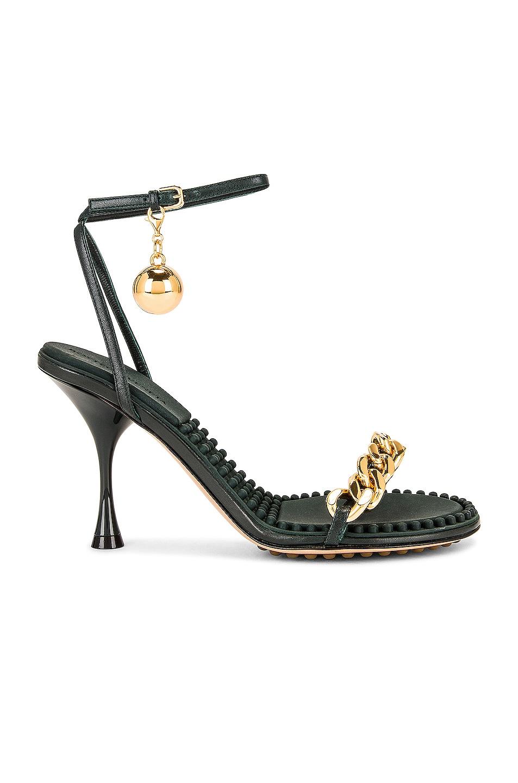 Image 1 of Bottega Veneta Heel Ankle Strap Sandals in Inkwell