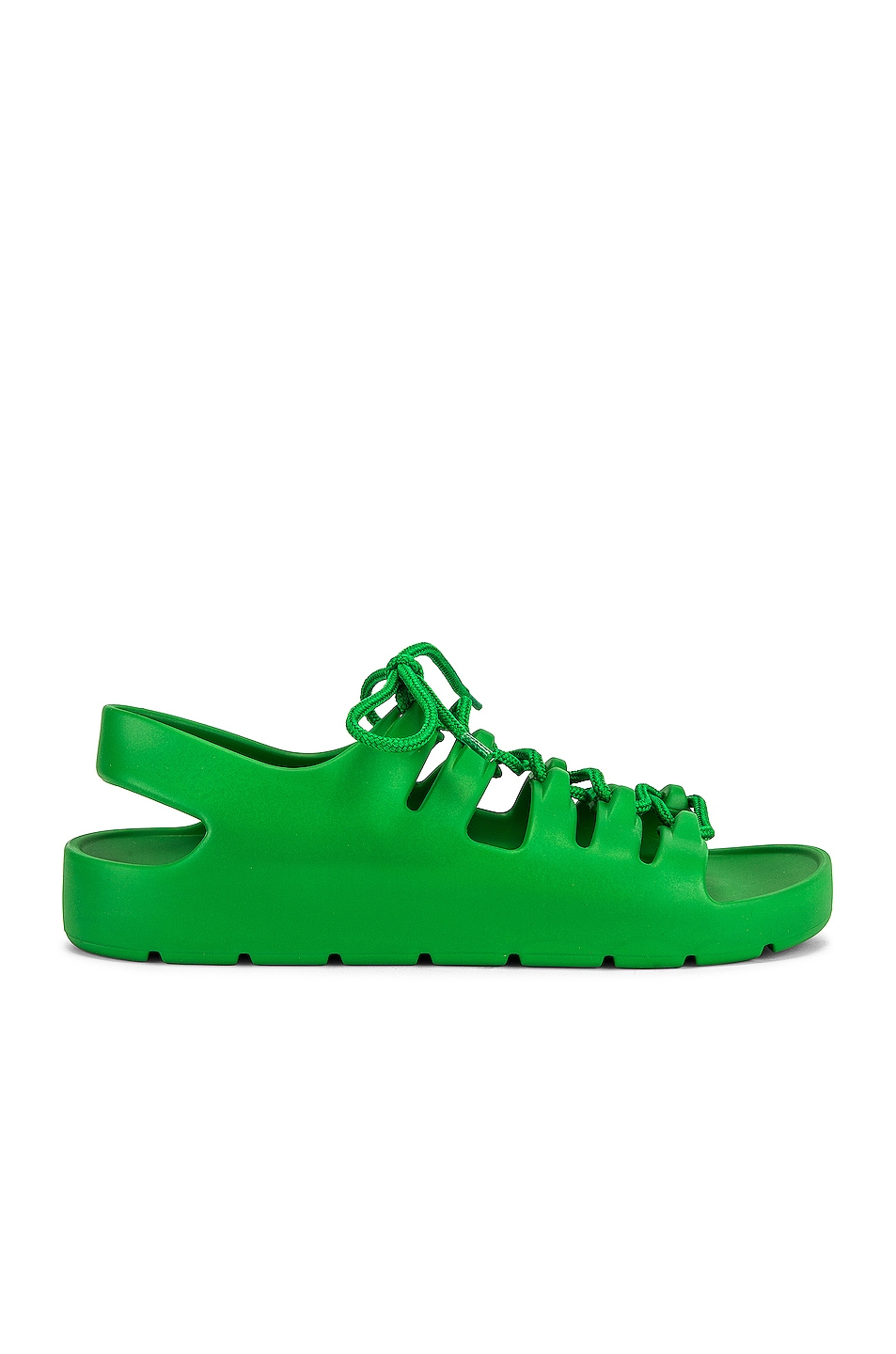 Image 1 of Bottega Veneta Jelly Lace Up Sandals in Grass