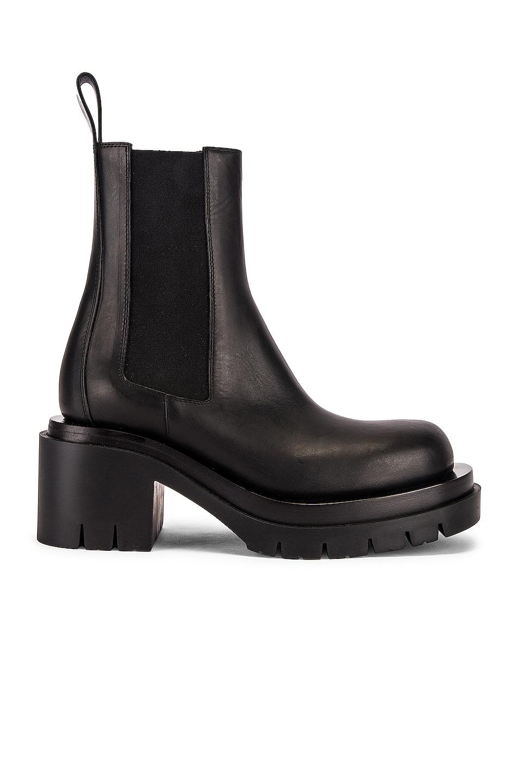Image 1 of Bottega Veneta Lug Ankle Boots in Black