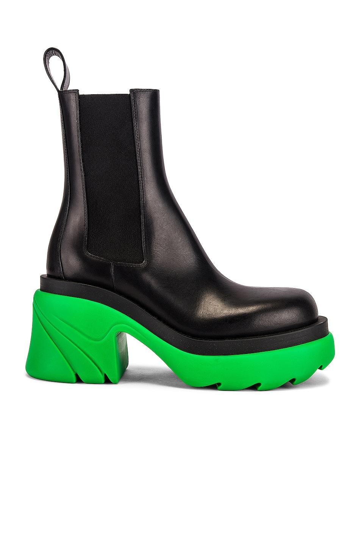 Image 1 of Bottega Veneta Flash Boots in Black & Grass