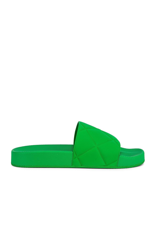 Image 1 of Bottega Veneta The Slider Flat Slides in Grass